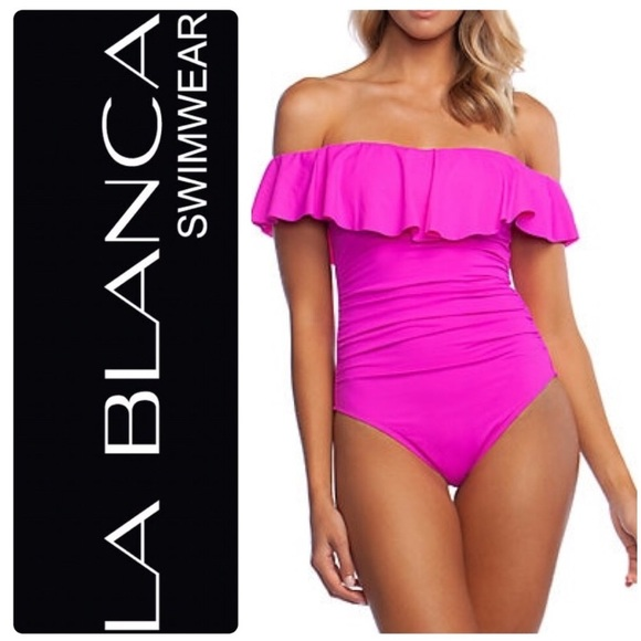 7b41efead451b La Blanca Swim | Off The Shoulder Ruffled Onepiece | Poshmark